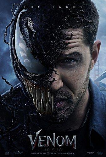 The original movie poster, designed for cinema, depicting Tom Hardy as Venom. Image courtesy of Google.