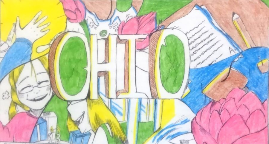LHS+art+student%2C+Taylor+Williams%2C+won+1st+place+in+the+Ohio+Youth+Art+Month+competition.
