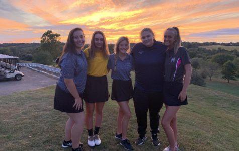 LHS 2019-2020 Girls' Golf team.  Photo courtesy of Stedman.