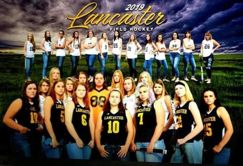 LHS 2019-2020 Field Hockey team promotional poster.