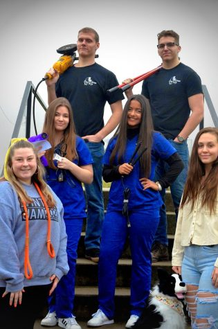LHS students represent a few of the Career Technical programs.