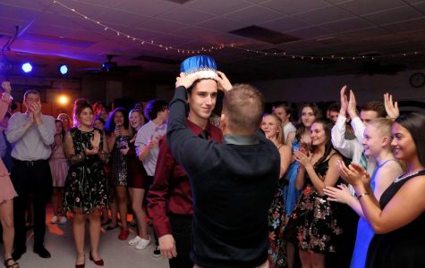 LHS senior, Zach Boch was crowned the 2020 Coming Home King.