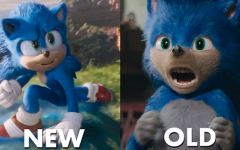 Comparison of the final Sonic animated character and the first.  Photo courtesy of Google Images.