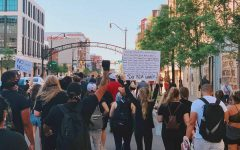 BLM protestors march down Downtown Columbus.  Photo courtesy of Brian Nameth.