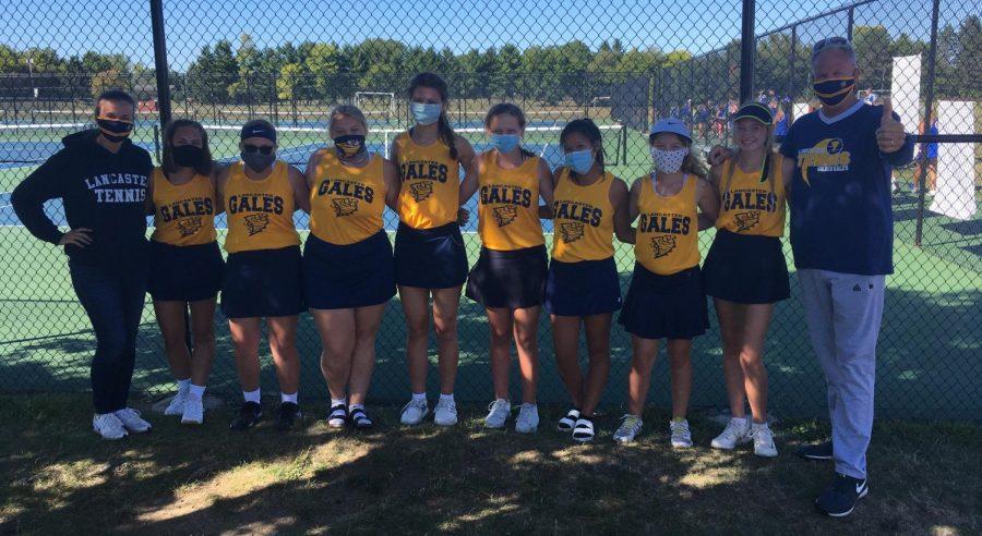 2020-2021 LHS Girls' Tennis Team.