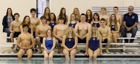 LHS 2020-2021 swim team. Photo courtesy of Garbrandt.